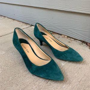 Soft suede low heels